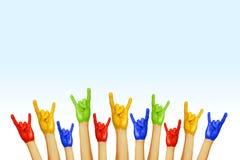 Ręki różni kolory Obraz Royalty Free