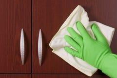 ręki rękawiczkowy froterowanie Obrazy Stock