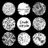 Ręki rysować kredowe linie gryzmolą okrąg różne tekstury ustawiać obrazy royalty free