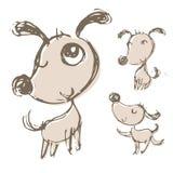 Ręki rysować psie ilustracje ilustracji