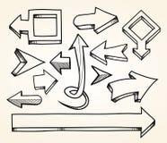 Ręki rysować strzała royalty ilustracja