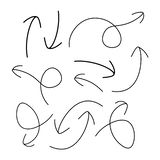 Ręki rysować strzały - wektor ilustracji