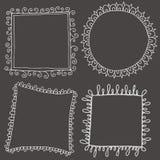 Ręki rysować tekst granicy Obrazy Stock