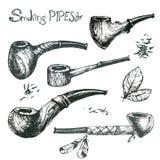 Ręki rysować wektorowe dymienie drymby Obraz Royalty Free