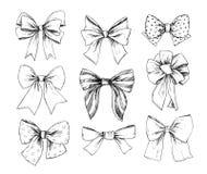 Ręki rysować wektorowe ilustracje Różni typ łęki Perfec Fotografia Royalty Free