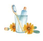 Ręki rysujący łazienek akcesoria Obrazy Stock