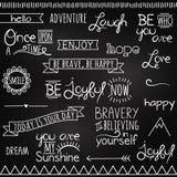 Ręki Rysujący Chalkboard stylu słowa ilustracji