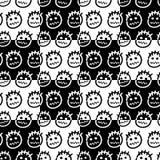 Ręki rysujący emoticons bezszwowy wzoru Obrazy Stock