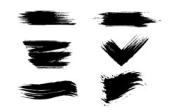 Ręki Rysujący Grunge muśnięcia uderzenia Zmrok, różny ilustracji
