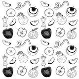 Ręki rysujący jabłka ilustracyjni Obrazy Royalty Free