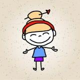 Ręki rysunkowej kreskówki abstrakcjonistyczni szczęśliwi dzieciaki Obraz Stock