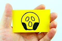 Ręki rysunkowy emoji z emoticon twarzą Zdjęcia Stock