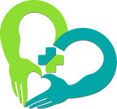ręki serca logo Obraz Stock