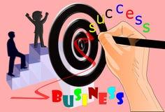 Ręki skupiają się biznesowego sukces Fotografia Royalty Free