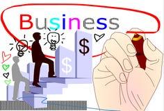Ręki skupiają się biznesowego sukces Fotografia Stock