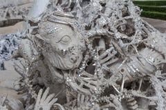 Ręki statua od piekła, Wat Rong Khun, Chiang Raja prowincja,  Zdjęcia Royalty Free