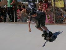 ręki Surfkate festiwal 2016 - chłopiec konkurs Obraz Royalty Free