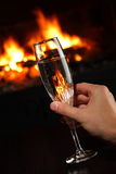 ręki szampański szklany mienie Obrazy Royalty Free