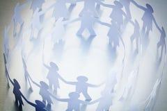 ręki target1749_1_ papierowych ludzi Obraz Royalty Free