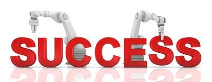 ręki target308_1_ sukcesu przemysłowego mechanicznego słowo ilustracji