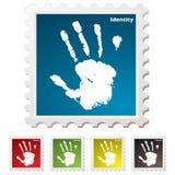 ręki tożsamości druku znaczek Obraz Royalty Free