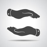 ręki troskliwa ikona Obraz Stock