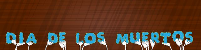 Ręki trzyma słowa Dia De Los Meurtos dzień nieboszczyk w hiszpańskim Wektorowy Illustratio ilustracja wektor