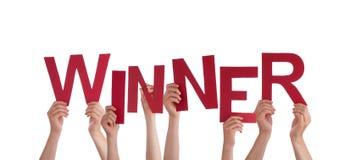 Ręki Trzyma zwycięzcy zdjęcia royalty free