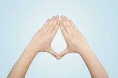 Ręki tworzy formę Zdjęcia Royalty Free