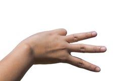 Ręki tworzy V charakteru dla miłości Obraz Stock