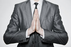 Ręki ustawiać wewnątrz one modlą się Zdjęcia Royalty Free