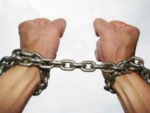 Ręki w łańcuchach Zdjęcia Royalty Free
