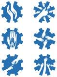 Ręki w przekładni royalty ilustracja