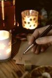 Ręki writing boże narodzenia Obraz Royalty Free