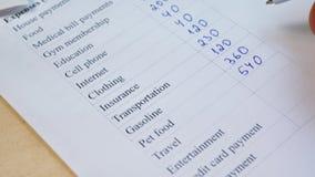Ręki writing domu budżet zbiory wideo