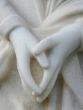 ręki wykładać marmurem modlenie Zdjęcia Stock