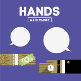 Ręki z pieniądze Obraz Stock
