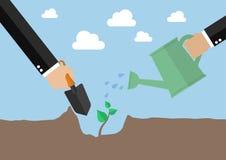 Ręki zasadza nowego drzewa Obrazy Stock