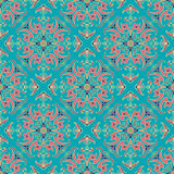 Ręki zentangle mandala rysunkowego koloru bezszwowy parteern Włoski majolika styl royalty ilustracja