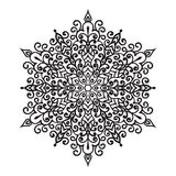 Ręki zentangle mandala rysunkowy element Obraz Stock