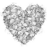 Ręki zentangle rysunkowy element czarny white Obraz Stock