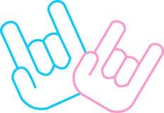 Ręki znaka miłość Obraz Stock