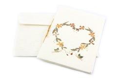 Rękodzieło karta od kwiatu Zdjęcia Stock