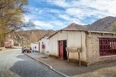 Rękodzieło sklep przy Santa Rosa De Tastil Wioska, Santa Rosa De Tastil -, Salto, Argentyna fotografia royalty free
