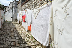 Rękodzieło sprzedawać na cytadeli Kala przy Berat zdjęcie royalty free