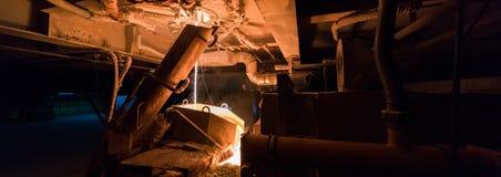 Rękodzielnicza fabryka, przemysł ciężki maszyneria Zdjęcia Royalty Free