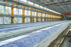 Rękodzielnicze betonowe płyty zbrojona betonowa produkcja Obrazy Stock
