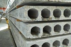 Rękodzielnicze betonowe płyty zbrojona betonowa produkcja Zdjęcie Stock