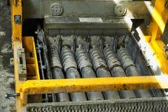 Rękodzielnicze betonowe płyty zbrojona betonowa produkcja Fotografia Stock