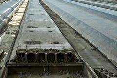 Rękodzielnicze betonowe płyty zbrojona betonowa produkcja Zdjęcia Stock